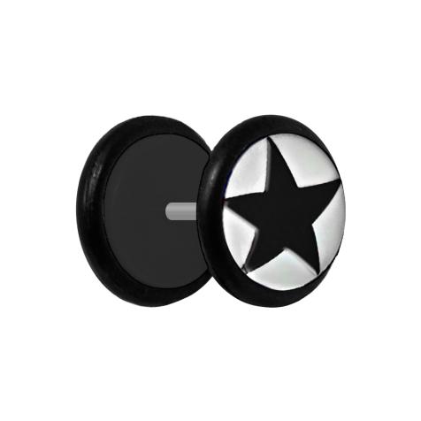 Fake Plug mit schwarzem Stern