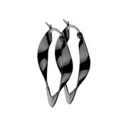 Ohrring schwarz verdreht