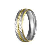 Ring silber drei Goldstreifen