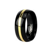 Ring schwarz goldstreifen