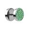 Fake Plug mit Kristall grün