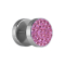 Fake Plug mit Kristall pink