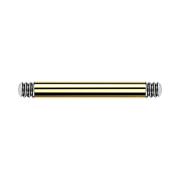 Barbell-Stab vergoldet