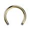 Circular Barbell-Stab vergoldet