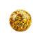 Kristall Kugel topaz mit Epoxy Schutzschicht