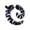 Fake Spirale schwarz mit weissen Zebrastreifen
