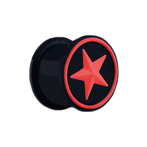 Plug schwarz mit rotem Stern