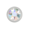 Kugel silber mit Kristall multicolor