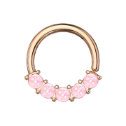 Micro Piercing Ring rosegold front fünf...
