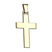 Anhänger vergoldet Kreuz