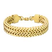 Armband vergoldet matt zweireihige Weizen