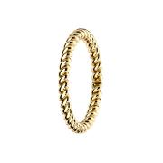 Ring vergoldet geflochten