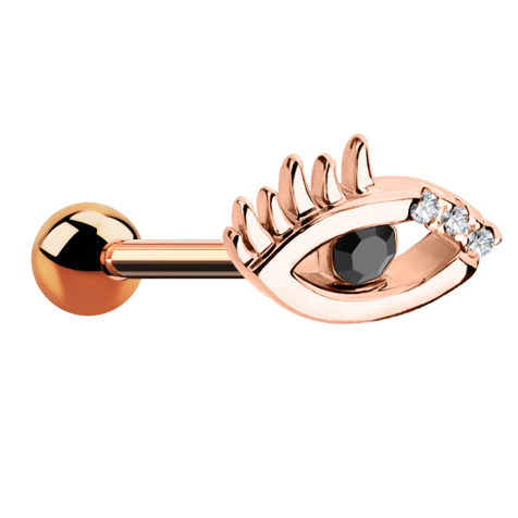 Micro Barbell rosegold Auge