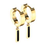 Ohrring zum Klappen vergoldet Anhänger Balken