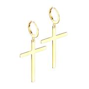 Ohrring vergoldet Anhänger Kreuz
