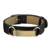 Kunstlederarmband schwarz Balken vergoldet