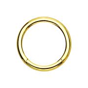 Micro Segmentring vergoldet klappbar