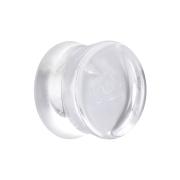 Flared Plug aus Quarz transparent