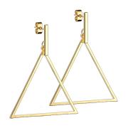 Ohrstecker vergoldet Balken Anhänger Dreieck