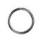 Micro Piercing Ring schwarz