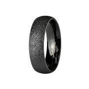 Ring schwarz gesprenkelt