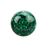 Kristall Kugel grün mit Epoxy Schutzschicht