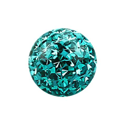 Kristall Kugel türkis mit Epoxy Schutzschicht