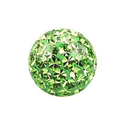 Kristall Kugel hellgrün mit Epoxy Schutzschicht