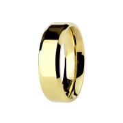 Ring vergoldet Kanten abgerundet