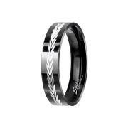 Ring schwarz Lorbeerkranz