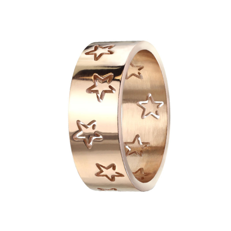 Ring rosegold mit Sternen