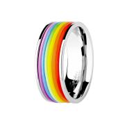 Ring silber Regenbogen