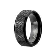 Ring schwarz gerillt