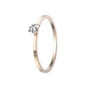 Ring rosegold mit viereckigem Kristall