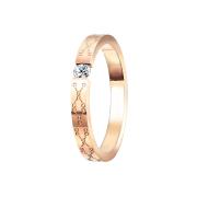 Ring rosegold geklemmten Kristall