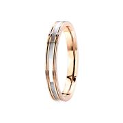 Ring rosegold Perlmutt Streifen
