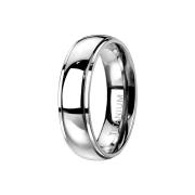 Ring silber Kuppel abgesetzt