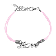 Kunstlederarmband pink Love
