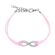 Kunstlederarmband pink Unendlich
