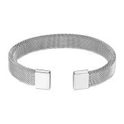 Armband silber mit flexiblem Mesh