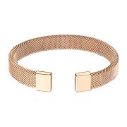 Armband rosegold mit flexiblem Mesh