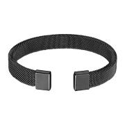 Armband schwarz mit flexiblem Mesh