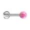 Micro Labret silber mit Kugel Opal pink