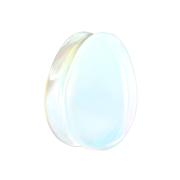 Flared Plug Tropfen aus Opalite Stein