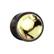 Flared Plug aus Sonoholz mit Goldzinn