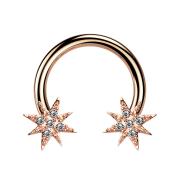 Circular Barbell rosegold mit Stern
