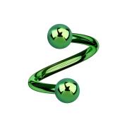 Micro Spirale grün mit zwei Kugeln