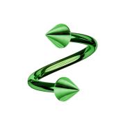 Micro Spirale grün mit zwei Cones