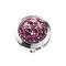 Dermal Anchor Kristall Kuppel hellviolett mit Epoxy Schutzschicht