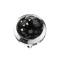 Dermal Anchor Kristall Kuppel schwarz mit Epoxy Schutzschicht